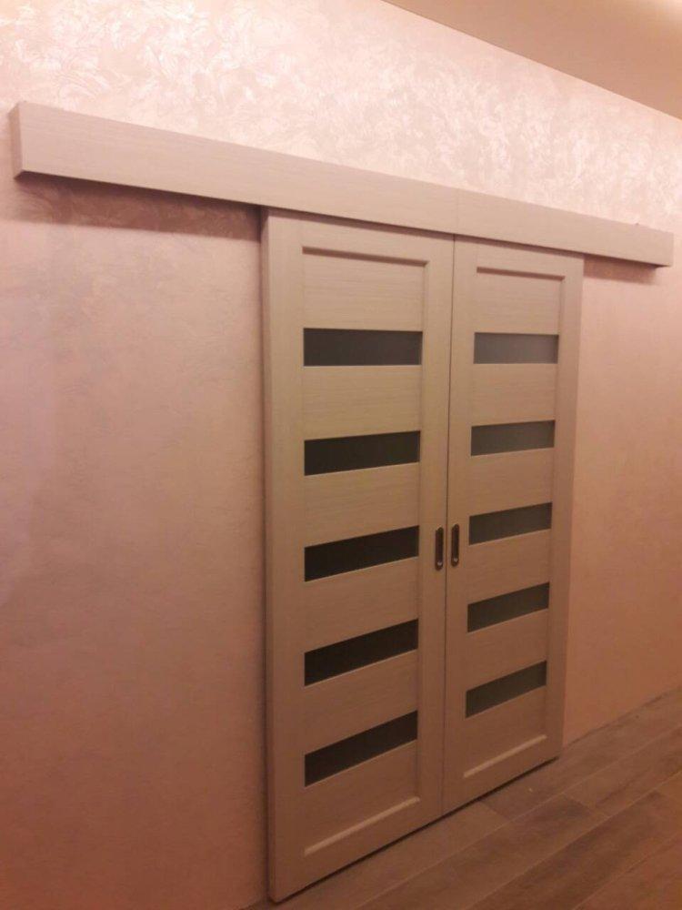 Двери Porto PR-08 Корфад беленый дуб стекло Сатин - Межкомнатные двери — фото №3