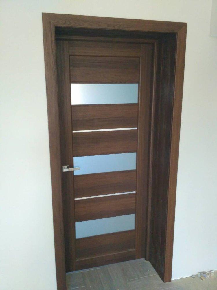Двери Porto PR-12 Корфад орех стекло Сатин - Межкомнатные двери — фото №3