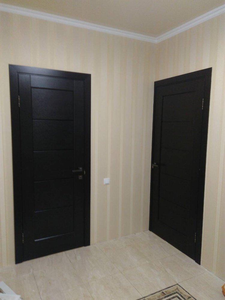 Двери Мира Новый Стиль венге делюкс стекло черное - Межкомнатные двери — фото №3