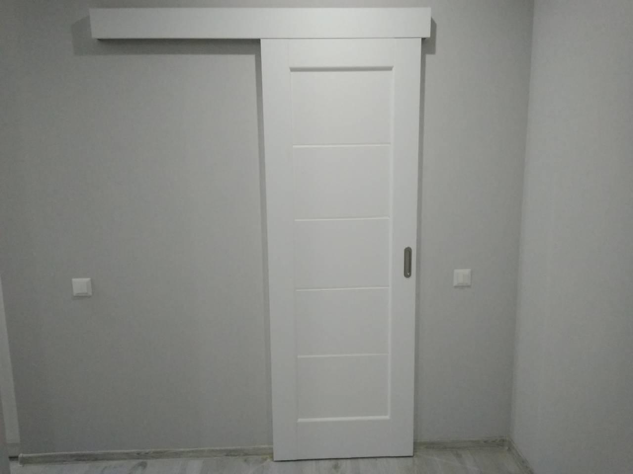 Двери Мира Новый Стиль белый мат премиум стекло Сатин - Межкомнатные двери — фото №3
