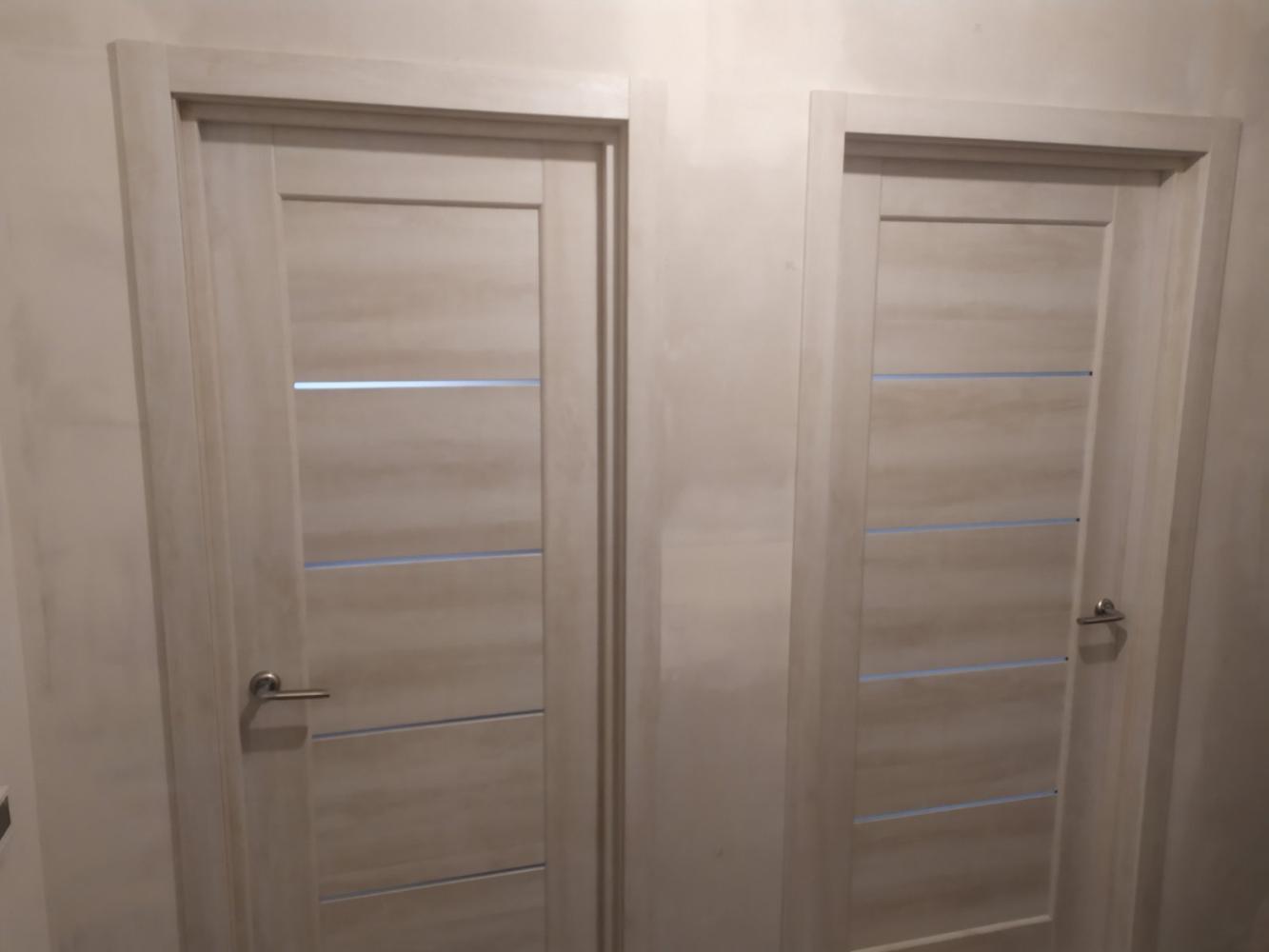 Двери Мира Новый Стиль ясень делюкс стекло Сатин - Межкомнатные двери — фото №3