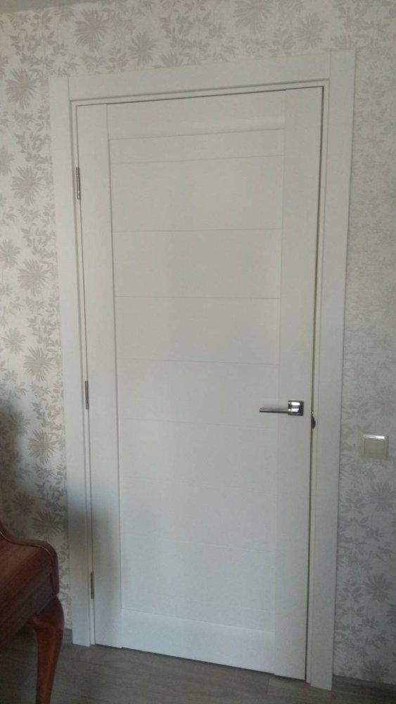Двери ML-04c Папа Карло белый мат глухое - Межкомнатные двери — фото №3