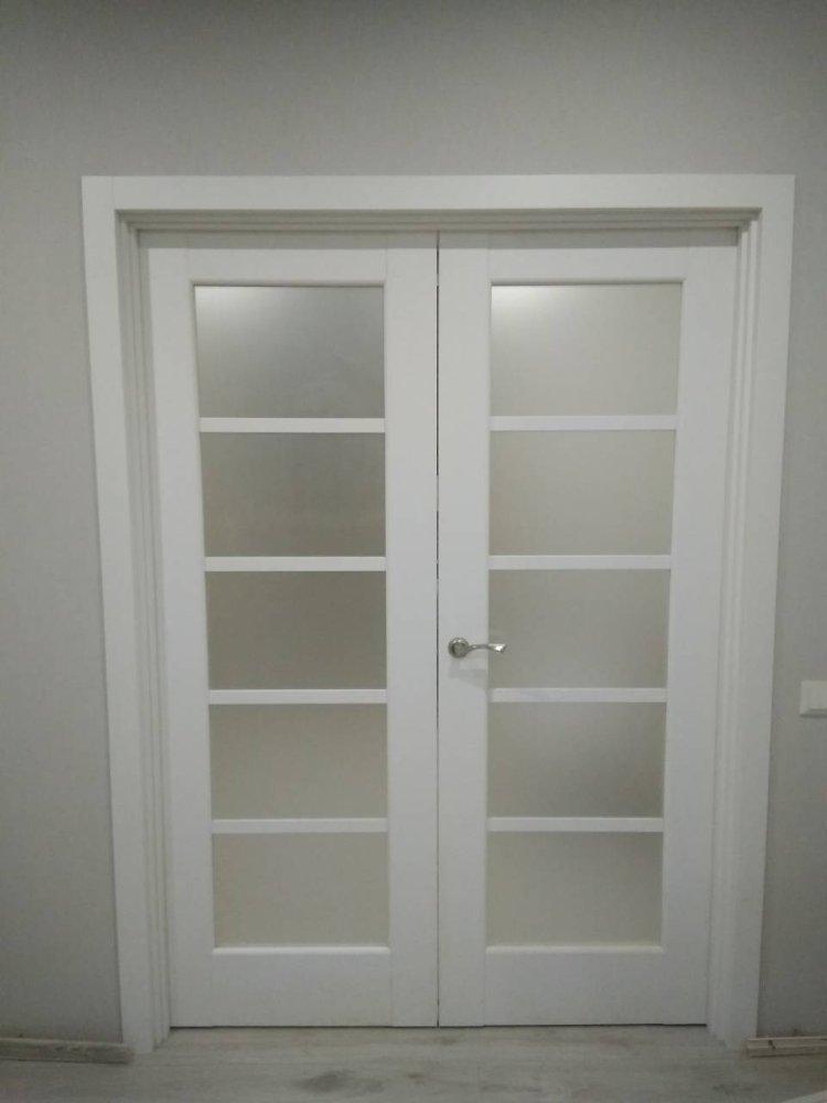Двери Муза Новый Стиль белый мат премиум стекло Сатин - Межкомнатные двери — фото №3