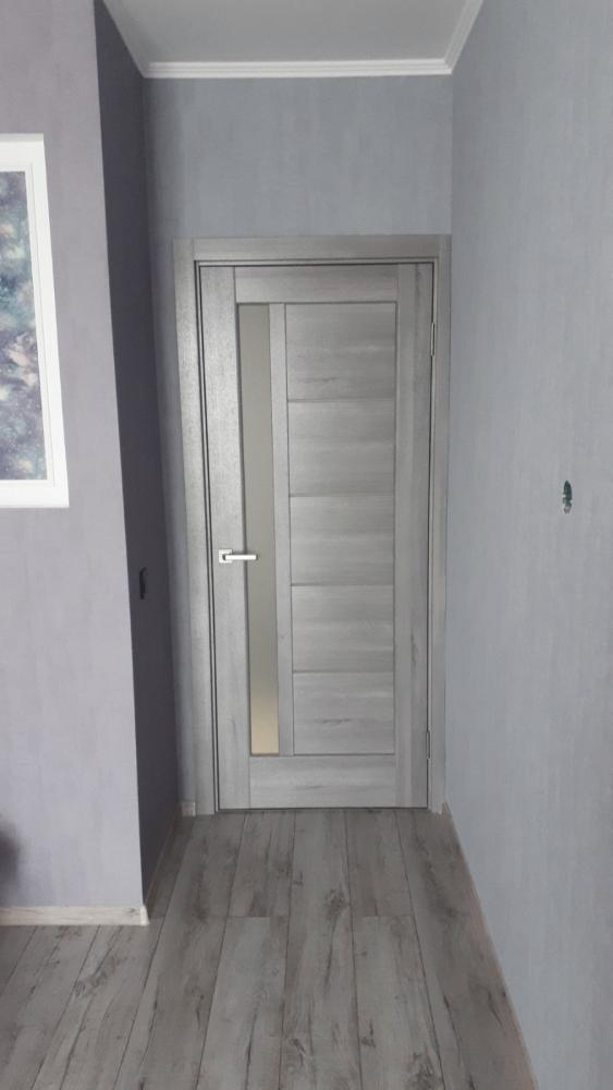 Двери Грета Новый Стиль бук пепельный делюкс стекло Сатин - Межкомнатные двери — фото №4