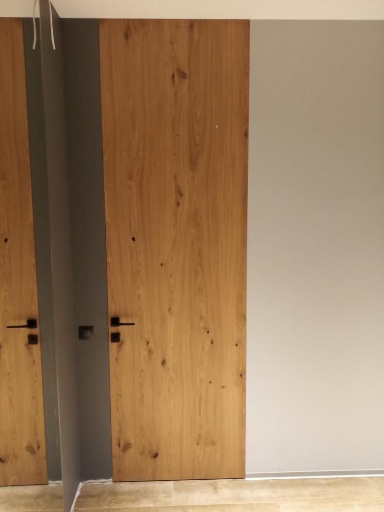 Двери скрытого монтажа шпон дуб дикий Invisible - Межкомнатные двери — фото №4