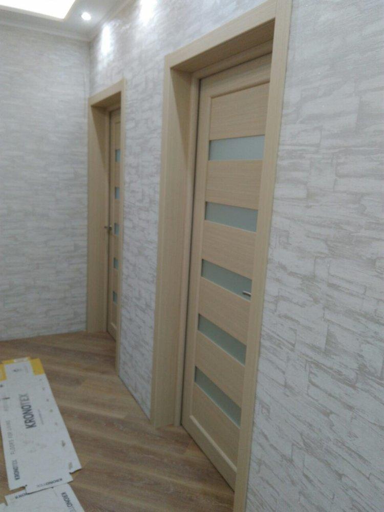 Двери Porto PR-03 Корфад беленый дуб стекло Сатин - Межкомнатные двери — фото №4