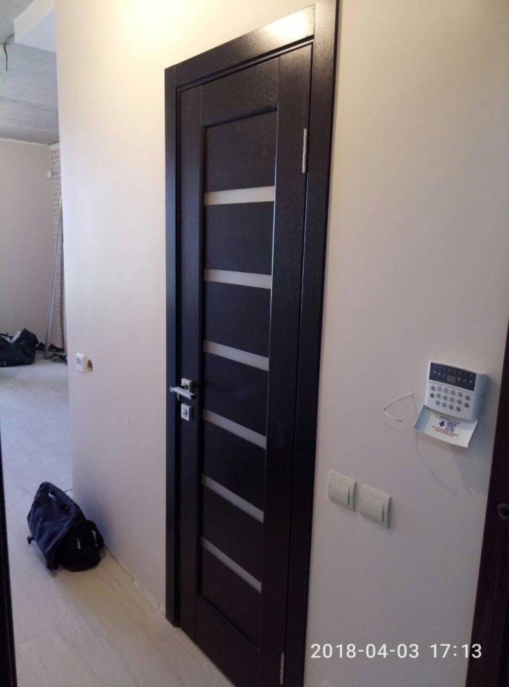 Двери Линнея Новый Стиль венге делюкс стекло Сатин - Межкомнатные двери — фото №4