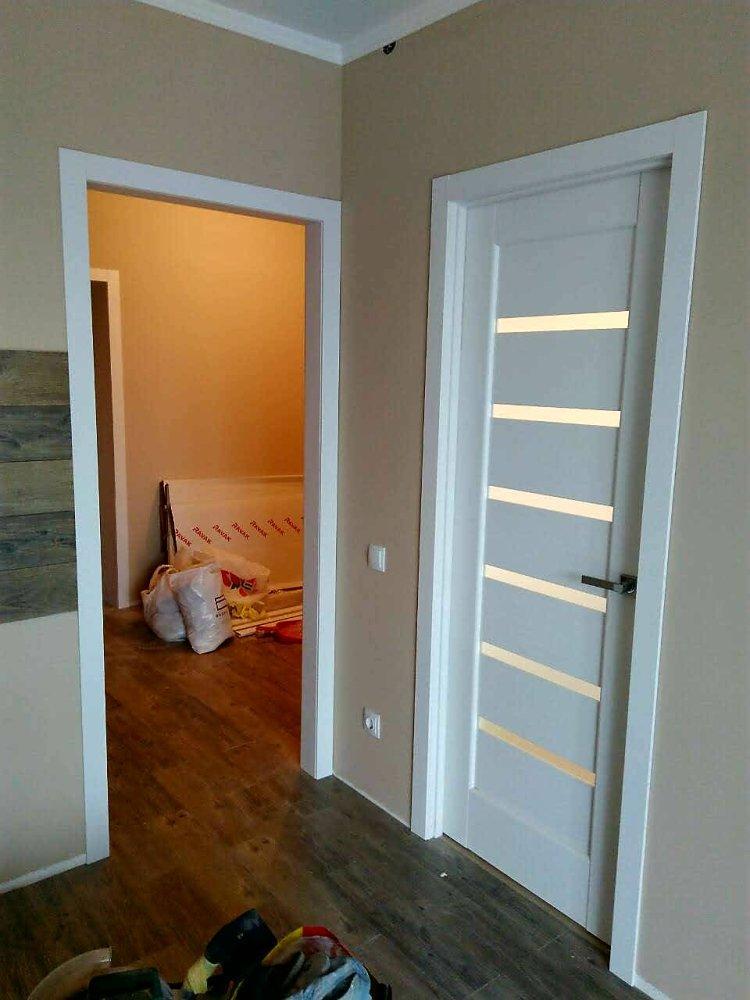 Двери Линнея Новый Стиль белый мат премиум стекло Сатин - Межкомнатные двери — фото №4