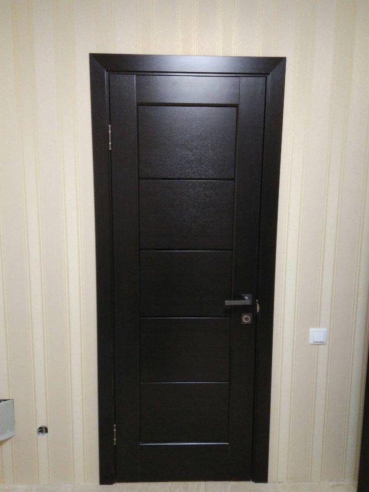 Двери Мира Новый Стиль венге делюкс стекло черное - Межкомнатные двери — фото №4