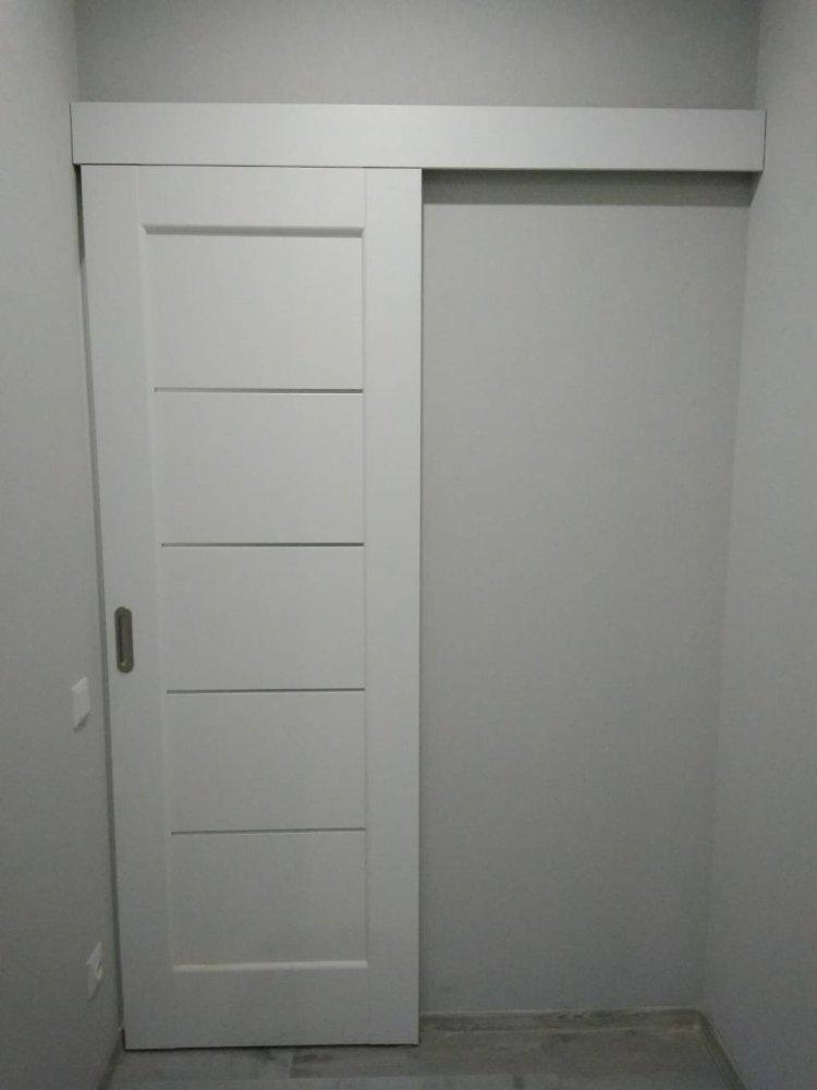 Двери Мира Новый Стиль белый мат премиум стекло Сатин - Межкомнатные двери — фото №4