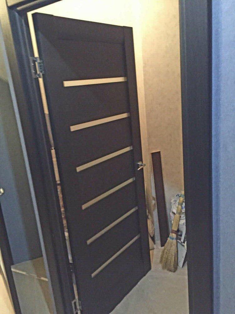 Двери ML-14c Папа Карло венге со стеклом - Межкомнатные двери — фото №4