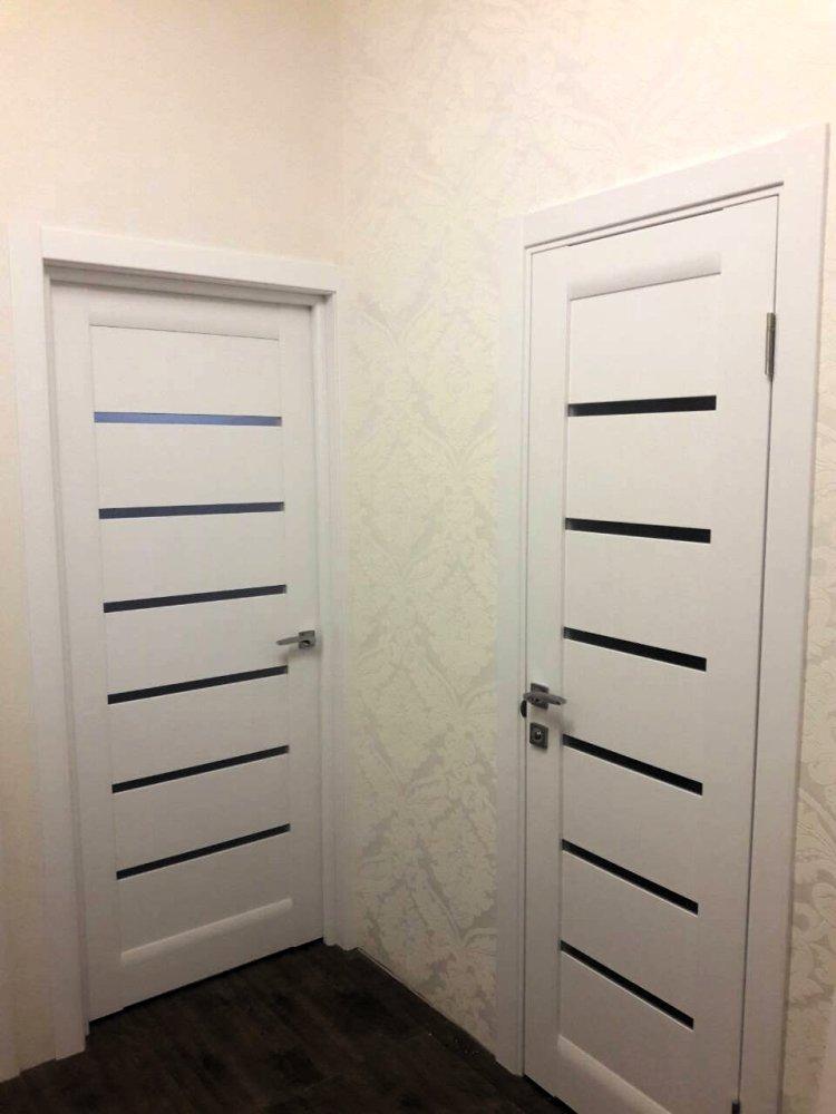 Двери ML-14c Папа Карло белый мат со стеклом - Межкомнатные двери — фото №4