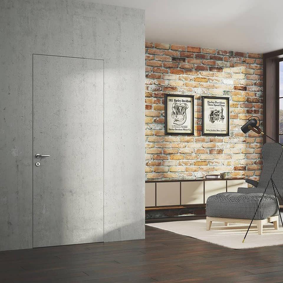 Двери скрытого монтажа под обои Invisible - Межкомнатные двери — фото №5
