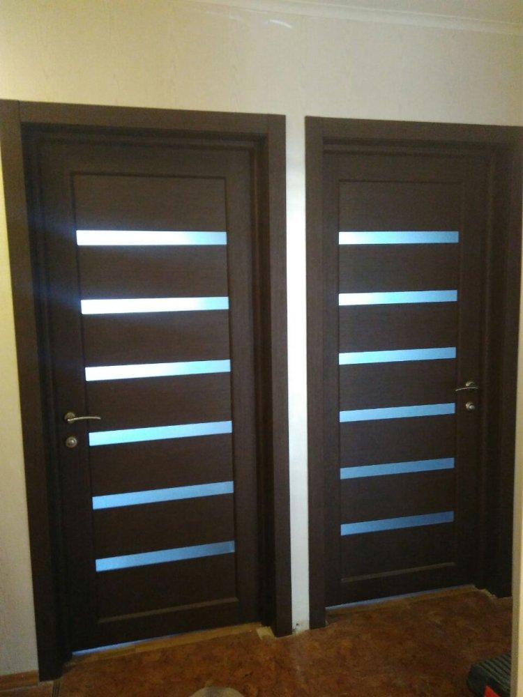 Двери Porto PR-01 Корфад венге стекло Сатин - Межкомнатные двери — фото №5