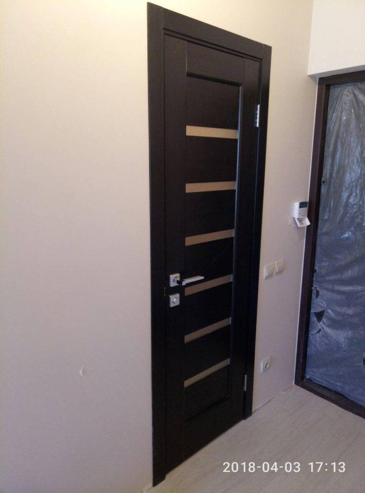 Двери Линнея Новый Стиль венге делюкс стекло Сатин - Межкомнатные двери — фото №5