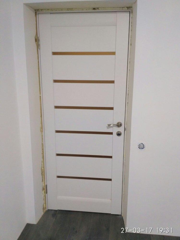 Двери ML-14c Папа Карло белый мат со стеклом - Межкомнатные двери — фото №5