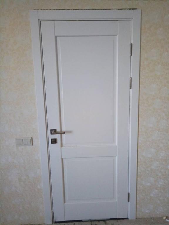 Двери Эпика Новый Стиль белый мат премиум глухое - Межкомнатные двери — фото №6
