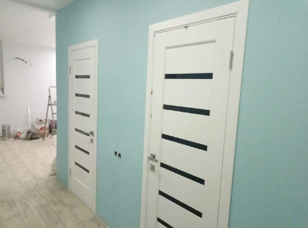 Двери Линнея Новый Стиль белый мат премиум стекло черное - Межкомнатные двери — фото №7