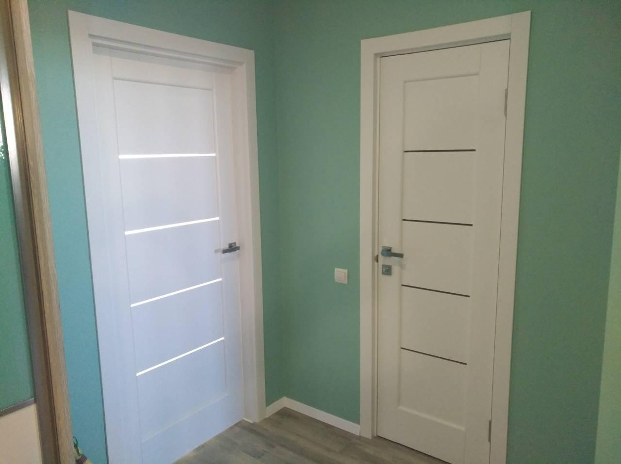 Двери Мира Новый Стиль белый мат премиум стекло Сатин - Межкомнатные двери — фото №7