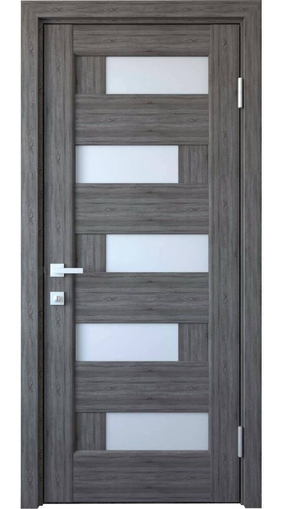 Двери Пиана Новый Стиль грей делюкс New стекло Сатин - Межкомнатные двери — фото №1