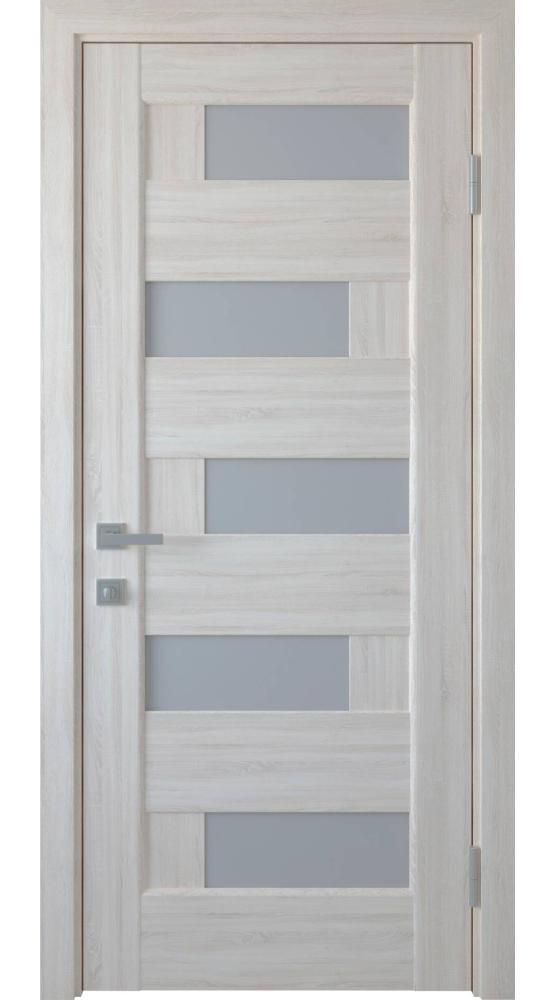 Двери Пиана Новый Стиль ясень делюкс стекло Сатин - Межкомнатные двери — фото №1
