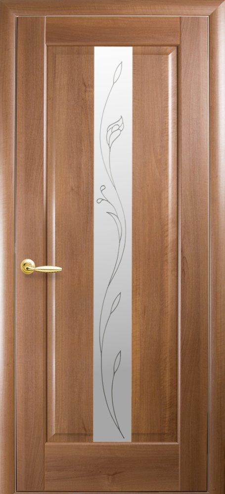 Двери Премьера Новый Стиль золотая ольха делюкс со стеклом Р2