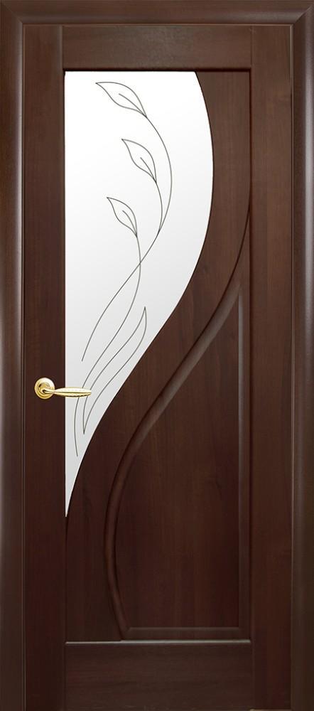 двери прима новый стиль каштан делюкс со стеклом р2