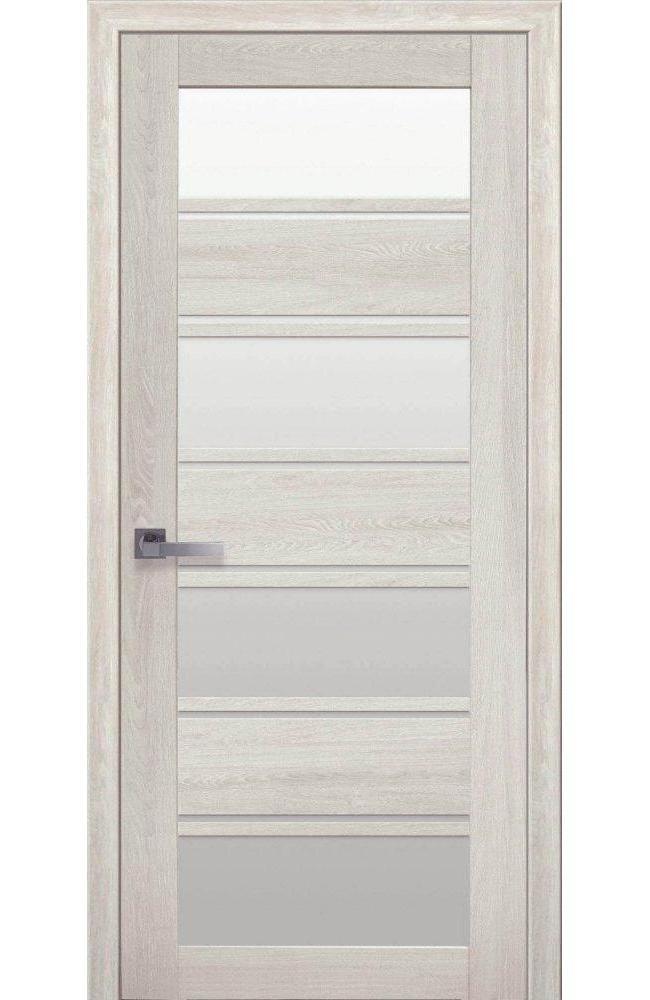 Двери Элиза Новый Стиль дуб молочный стекло Сатин - Межкомнатные двери — фото №1