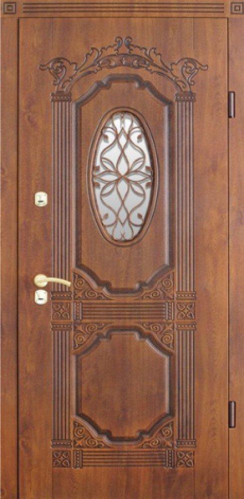 уличные металлические полуторные двери