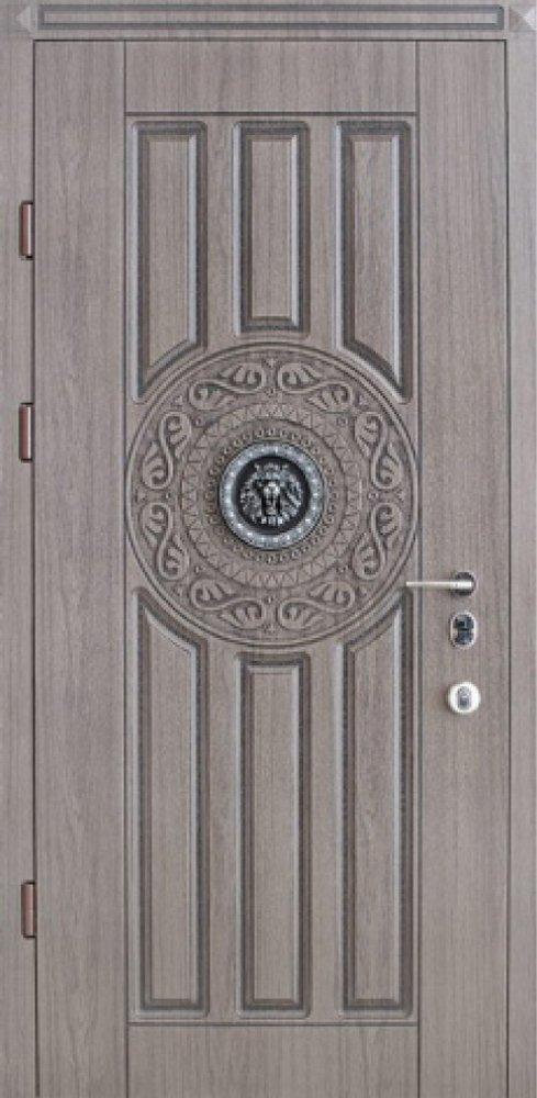 входная двери со львом