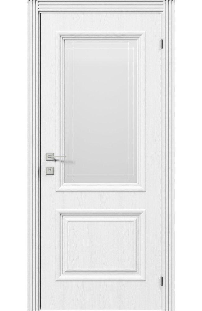 Двери Royal Avalon Родос ясень белый полустекло
