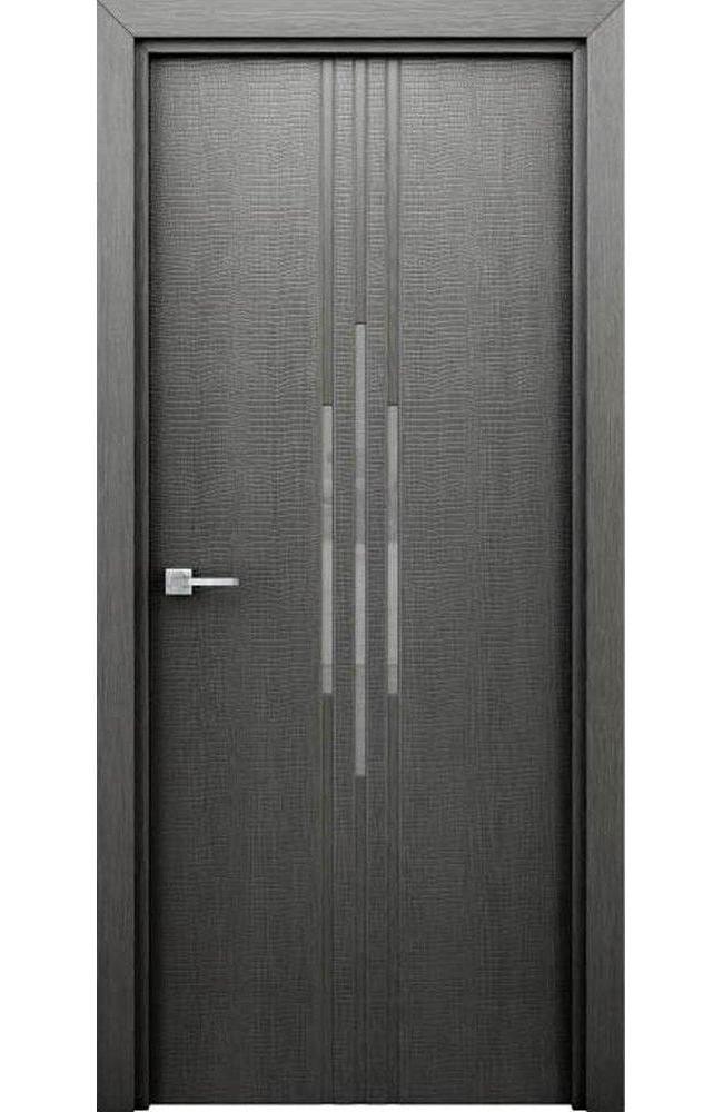 Двери Сафари Интерьерные Двери серые с молдингом