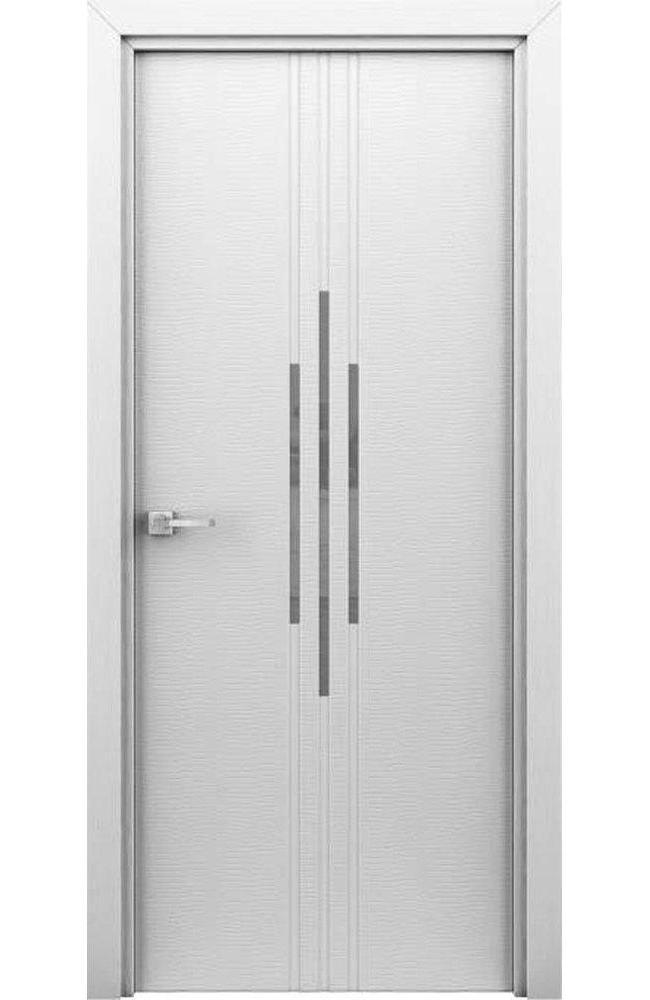 Двері Сафарі Інтерєрні двері білий з молдінгом