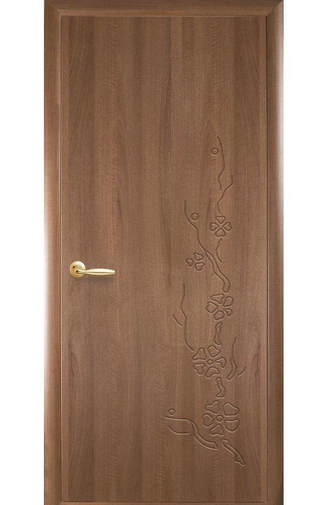 Двери Сакура Новый Стиль золотая ольха делюкс глухое