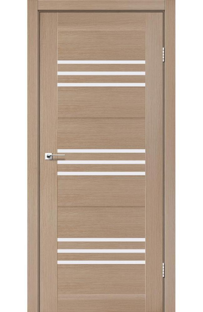 Двери Sovana Леадор дуб мокко стекло Сатин - Межкомнатные двери — фото №1