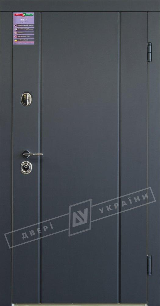 Двері України Стелла-Турін Інтер антрацит / зсередини білий супермат
