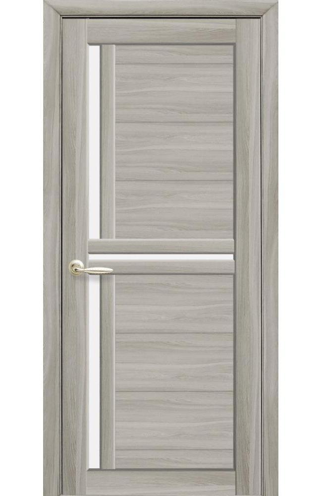 Двери Тринити Новый Стиль ясень патина стекло Сатин