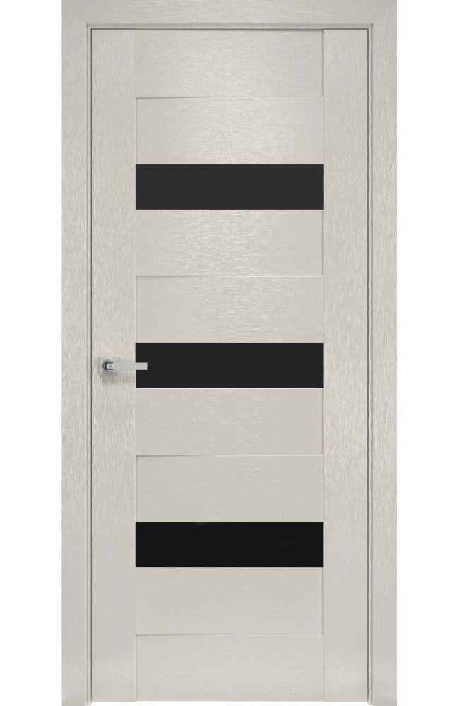 Двери Вена Новый Стиль х-беж стекло черное - Межкомнатные двери — фото №1