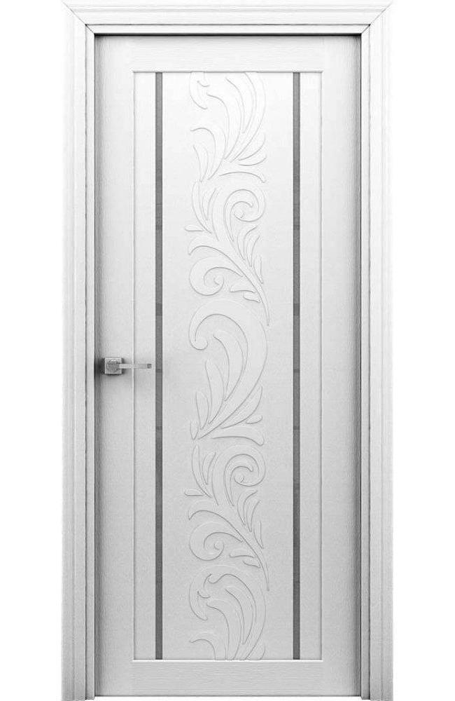 Двері Весна Інтерєрні двері білий з молдінгом