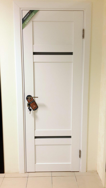 Ламинированные белые двери