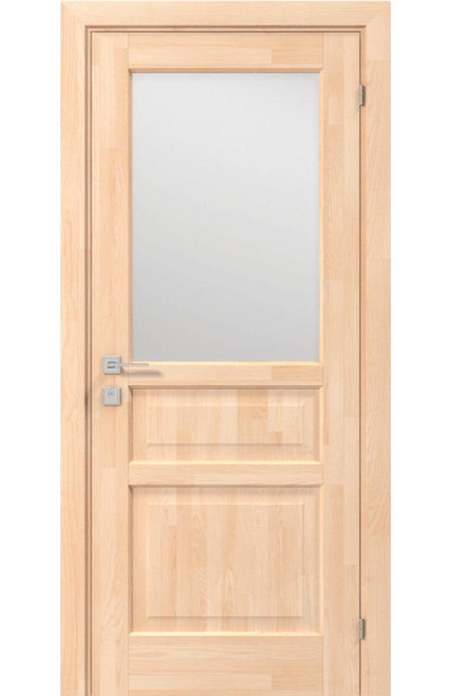Двери Woodmix Praktic Родос сосна натуральная полустекло