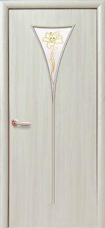 Двери Бора Новый Стиль дуб жемчужный со стеклом Р1