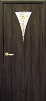Двери Бора Новый Стиль кедр со стеклом Р1