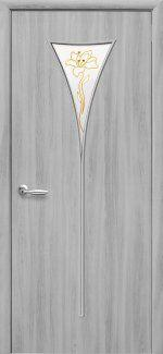 Двери Бора Новый Стиль ясень патина со стеклом Р1