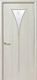 Двери Бора Новый Стиль дуб жемчужный со стеклом Р3
