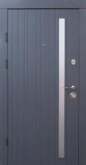 Двері Qdoors Преміум Браш-AL сіра текстура супермат ззовні / какао текстура супермат зсередини