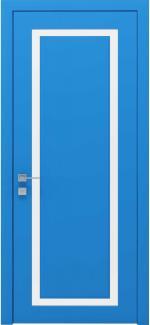 Межкомнатные двери Cortes Venezia Родос RAL 5012 полустекло