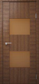 Двері Модель DEKO-03 дуб amber line скло Трюфель