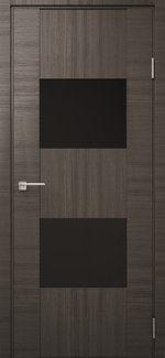 Двері Модель DEKO-03 дуб ash line скло чорне