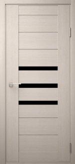 Двері Модель DEKO-06 дуб bianco скло чорне